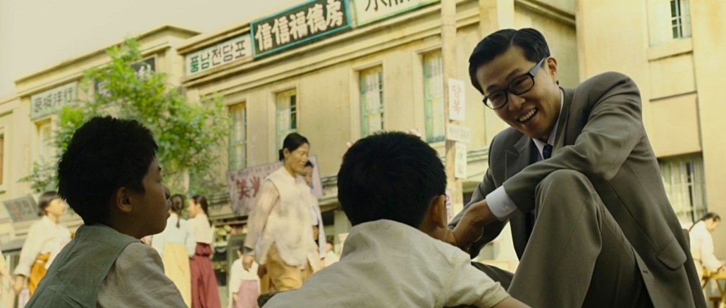 Mr. Chung comes for a shoeshine.