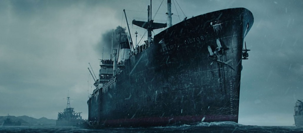 The SS Meredith Victory as depicted in the movie.