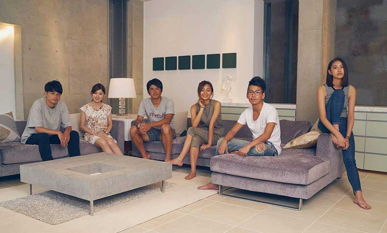 Terrace House's full cast for the first set of episodes.