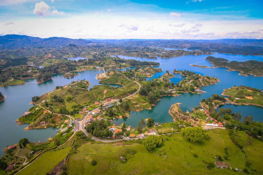 Guatape Reservoir, 2 hours outside of Medellin. This is in December.